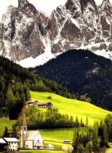 Mountain Village, Val di Funes, Italy