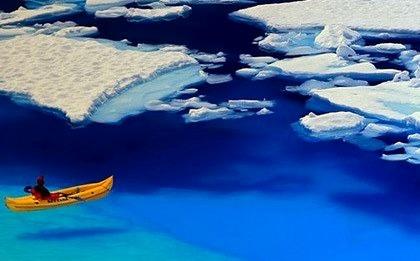 Floating in Blue, Glacier Bay, Alaska