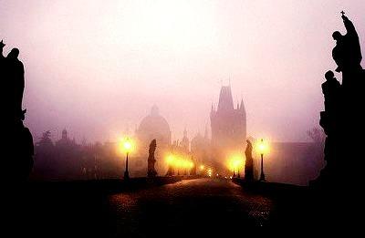 Fog at Dusk, Prague, Czech Republic