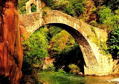 Arched Bridge, Lucca, Italy